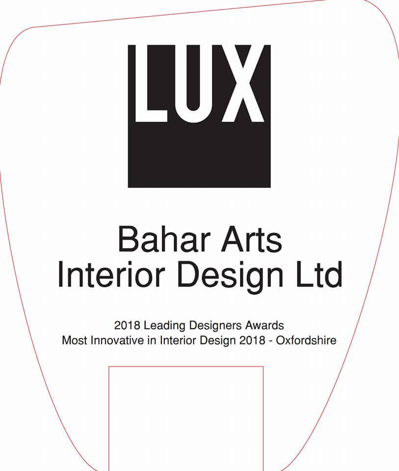 LUX LIFE MAGAZINE AWARDS 2018 UK - Bahar Interior
