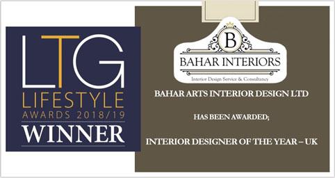 LTG LIFESTYLE AWARDS 2018/19 UK - Bahar Interior
